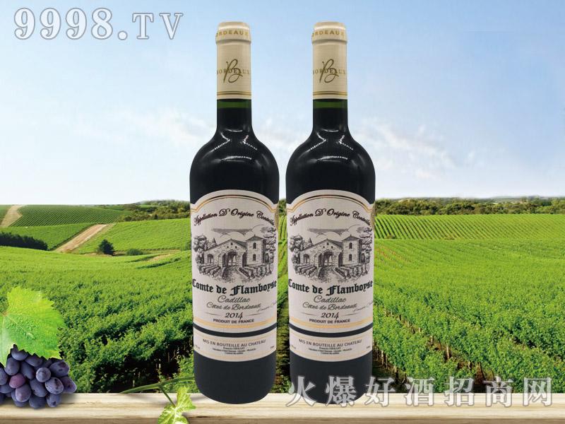法国芙博西伯爵酒庄波尔多卡迪拉克丘经典干红葡萄酒
