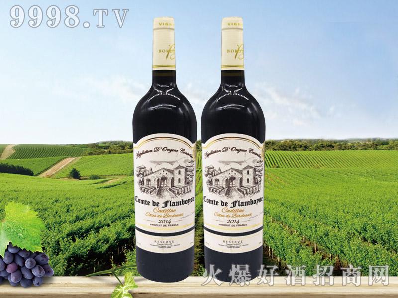 法国芙博西伯爵酒庄波尔多卡迪拉克丘橡木桶陈酿干红葡萄酒
