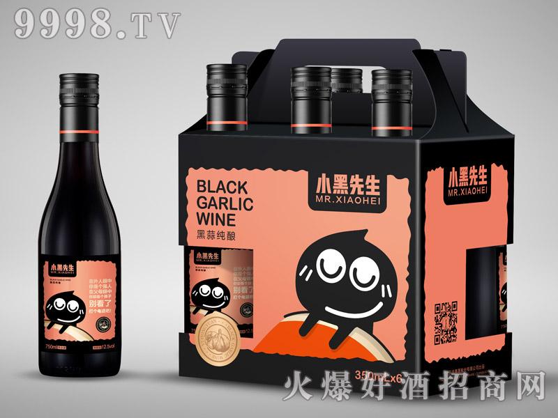 小黑先生黑蒜酒350mlx6