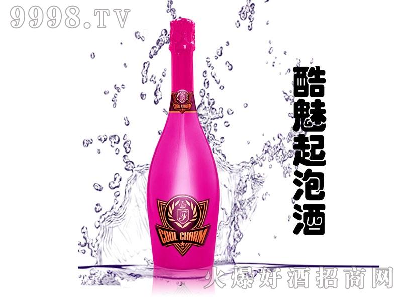 酷魅起泡酒电镀粉红瓶