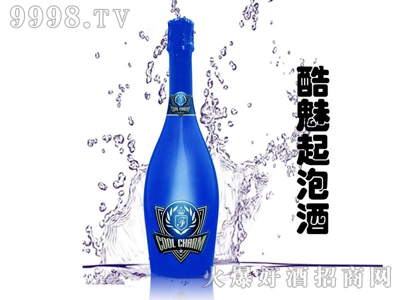 酷魅起泡酒电镀蓝瓶