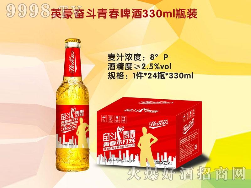 英豪奋斗青春啤酒330ml瓶装