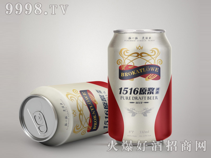 德国锦狮原浆啤酒330MLx24支