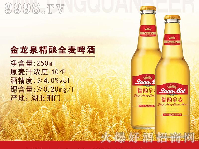 金龙泉精酿全麦啤酒250ml-啤酒招商信息