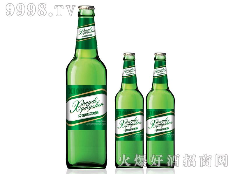 兄弟情深啤酒・500ml绿瓶