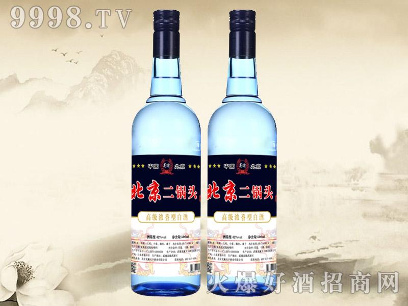 龙迎北京二锅头酒42°500ml(蓝瓶)