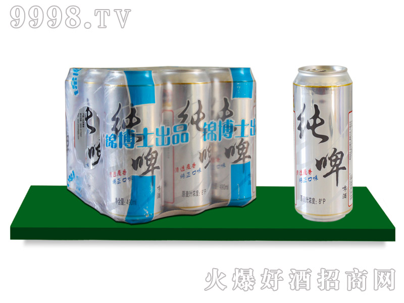 锦都泉纯啤490mlx9罐