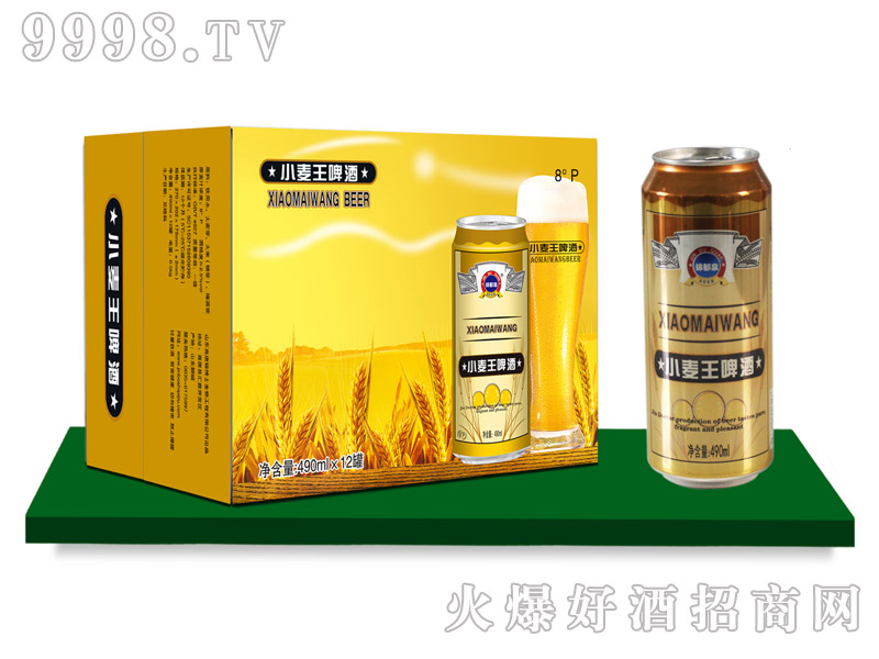 锦都泉小麦王啤酒490mlx12罐