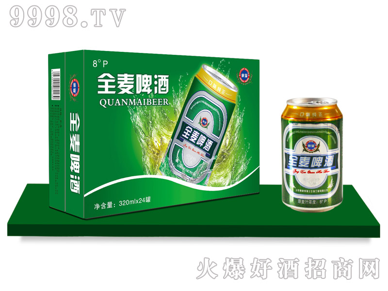 景雪全麦啤酒320mlx24罐