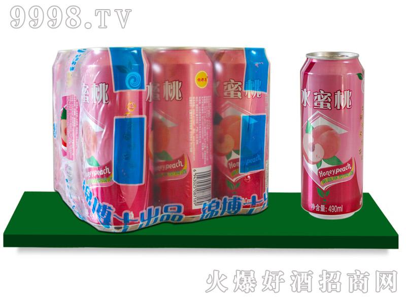 锦都泉水蜜桃啤酒塑包490mlx9罐