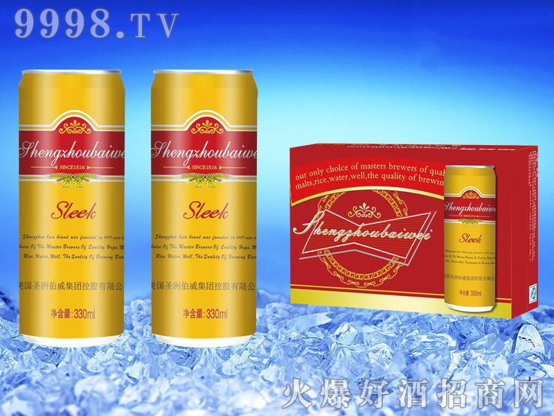 美国伯威啤酒330ml(细高黄罐)