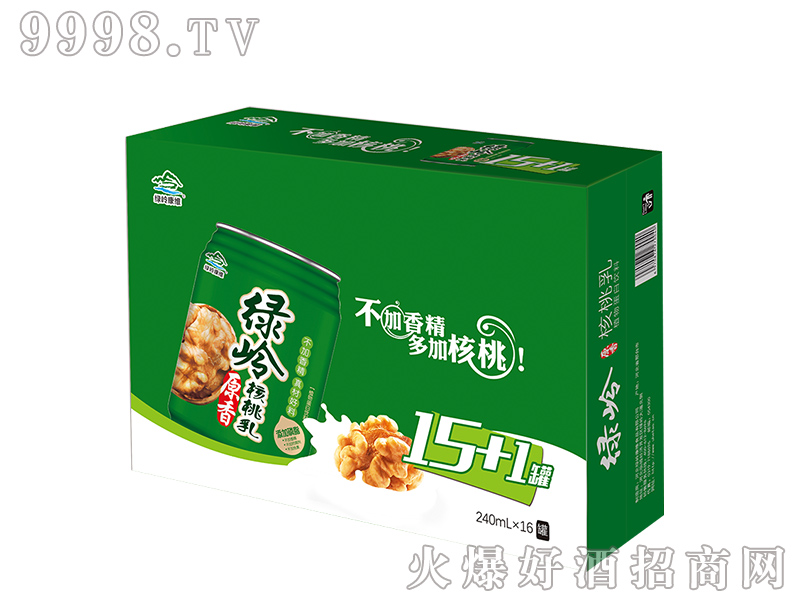 绿岭原香核桃乳盒装