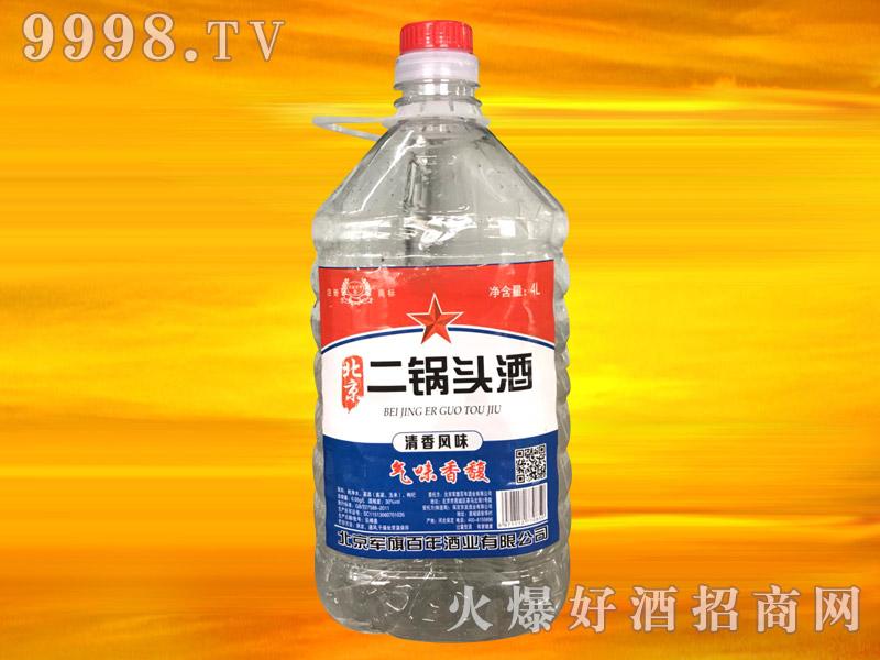 军旗百年北京二锅头酒4L
