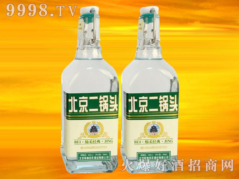 军旗百年绵柔经典酒(绿标)42°500ml