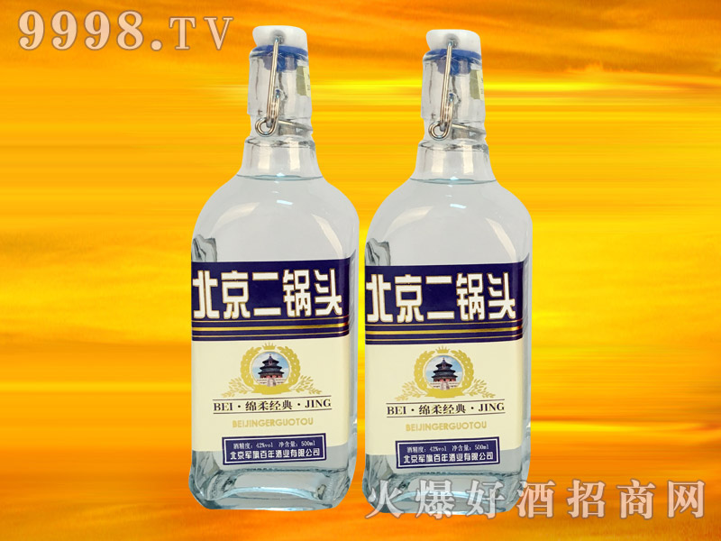 军旗百年绵柔经典酒(蓝标)42°500ml