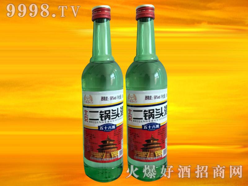 军旗百年北京二锅头酒(绿瓶)56°500ml
