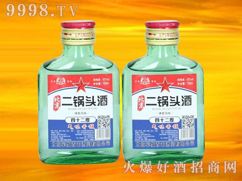 军旗百年北京二锅头酒42°100ml