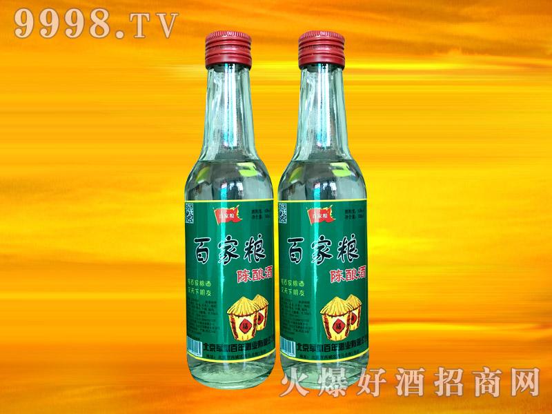 军旗百年百家粮陈酿酒(绿瓶)42°250ml