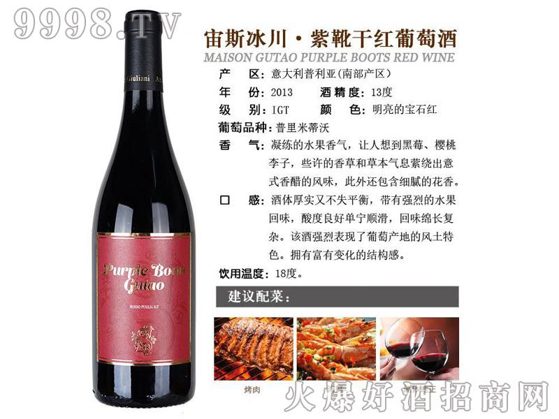 宙斯冰川-紫靴干红葡萄酒