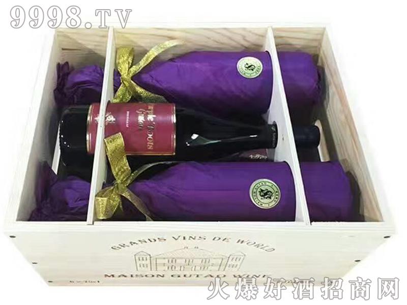 宙斯冰川紫靴干红葡萄酒IGT级750ml六支木箱装