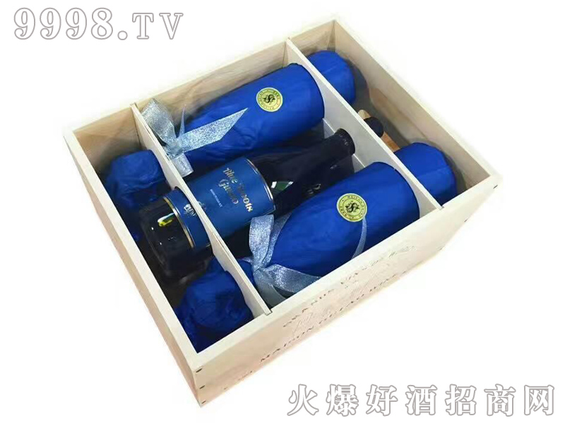 宙斯冰川蓝靴干红葡萄酒IGT级750ml六支木箱装