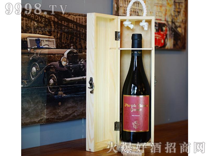 宙斯冰川紫靴干红葡萄酒IGT级750ml单支木盒装