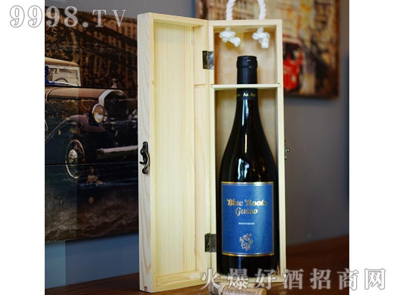 宙斯冰川蓝靴干红葡萄酒IGT级750ml单支木盒装