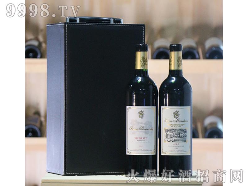 塞纳河小夜曲+塞纳河童话干红葡萄酒IGP级750ml双支套装