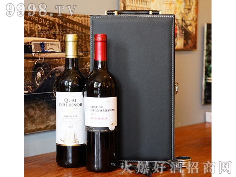 圣梅耶城堡+古萄世家橡木桶窖藏750ml组合双支皮盒装