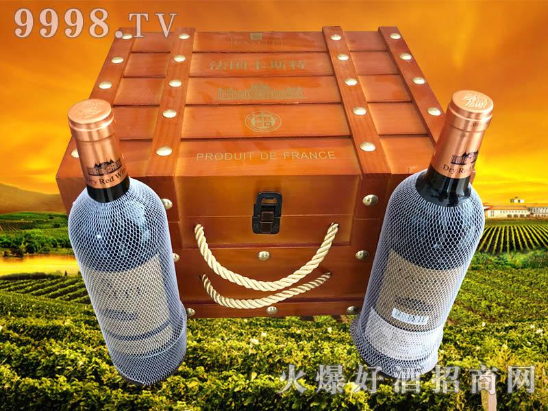 法国卡斯特・马尔贝克干红葡萄酒750ml