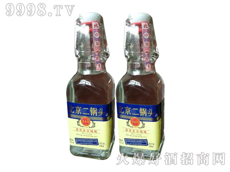 牛栏泉方瓶提环烫金蓝标半斤二锅头酒1×20瓶
