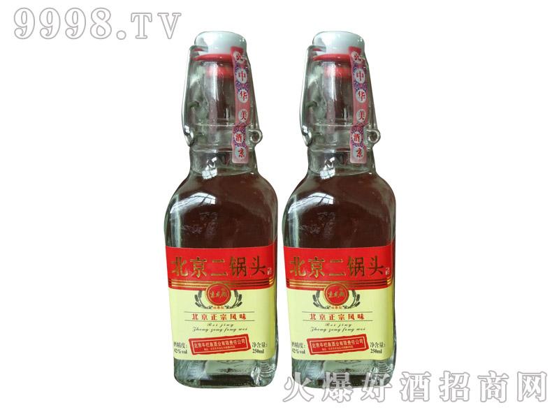 牛栏泉方瓶提环烫金红标半斤二锅头酒1×20瓶