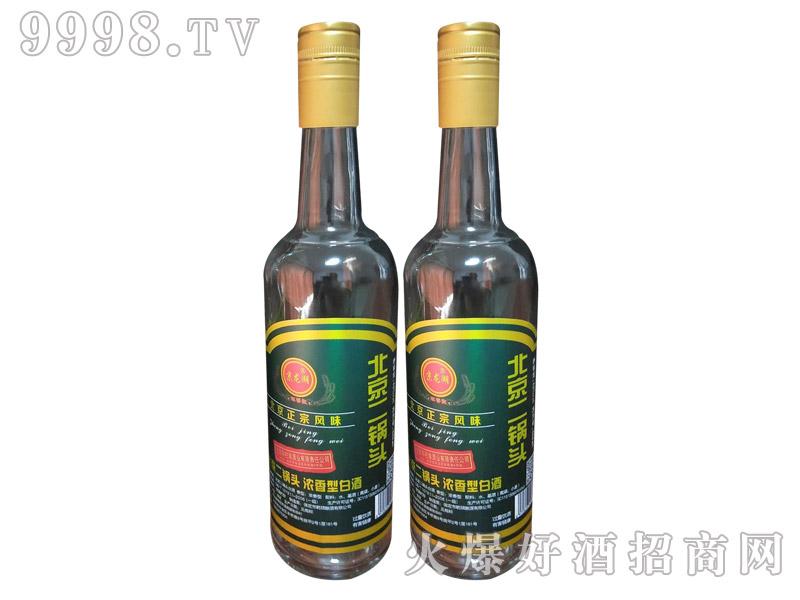 绿金标高圆瓶北京二锅头酒1×12瓶