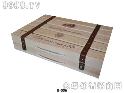6支单排木箱包装