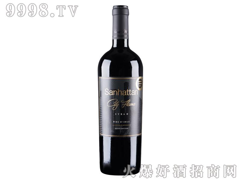 智利-圣哈顿城市烈焰干红葡萄酒