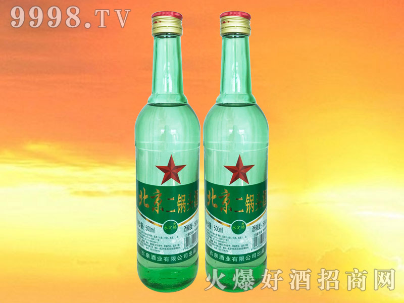 永定桥北京二锅头绿瓶绿标56°500ml