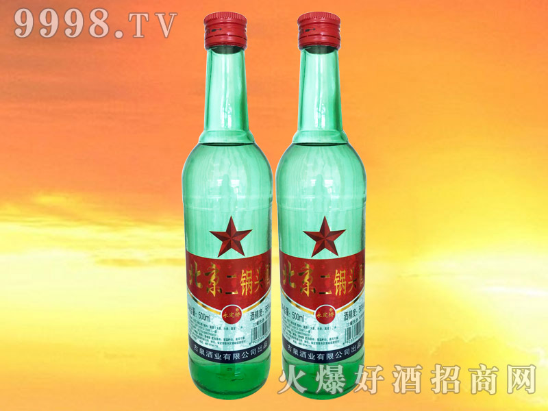 永定桥北京二锅头绿瓶红标56°500ml
