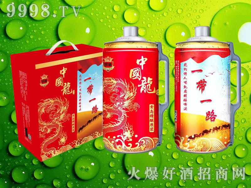 凯盾精酿原浆中国龙啤酒2L