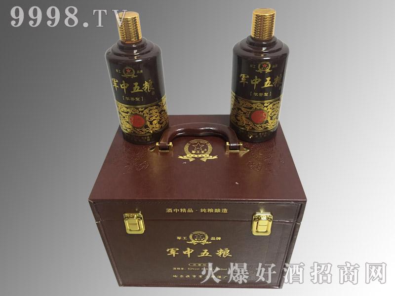 军中五粮酒经典木盒