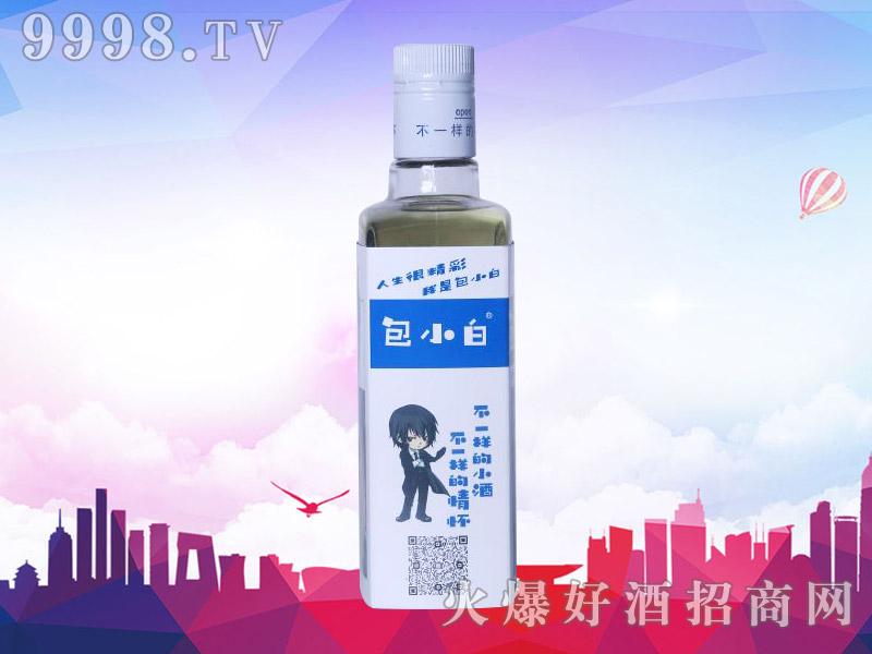 包小白健康小酒42°52°300ml(侧面)