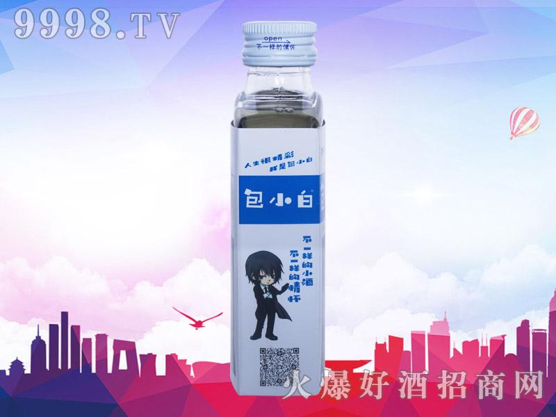 包小白健康小酒42°52°100ml(侧面)