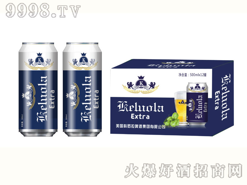 美国科罗拉啤酒500mlx12罐