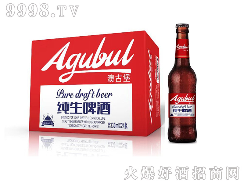 澳古堡纯生啤酒瓶装