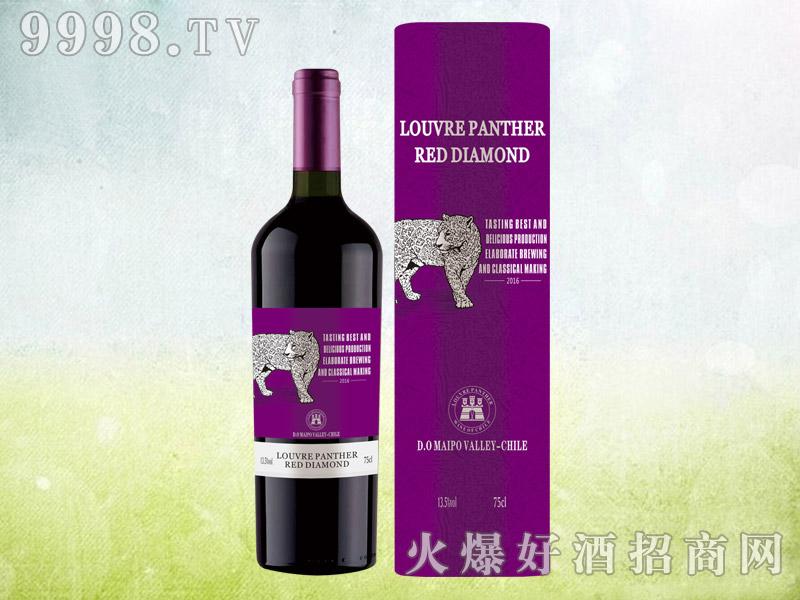 新款豹子干红葡萄酒圆桶