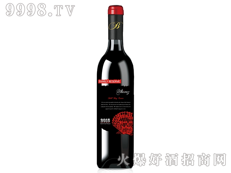 贝壳湾家族珍藏西拉干红葡萄酒