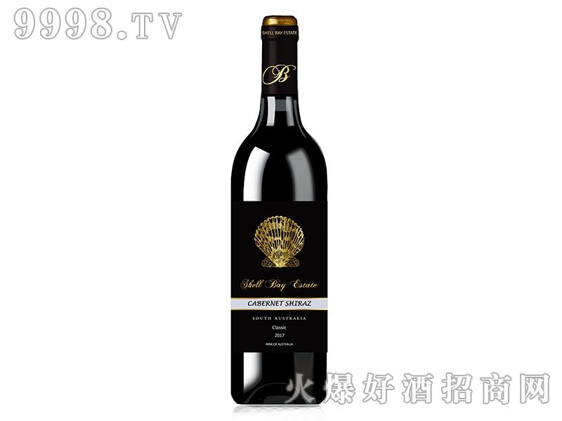 贝壳湾精选级赤霞珠西拉混酿干红葡萄酒