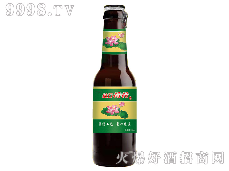 钻石荷花乐虎体育直播app330ml棕色瓶