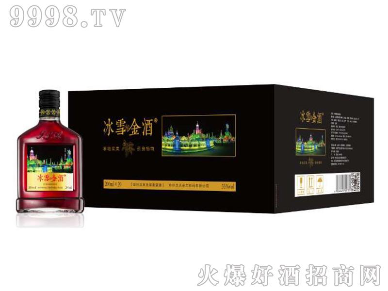 招商产品:冰雪金酒35%vol%>招商公司:哈尔滨冰韵千赢国际手机版有限公司