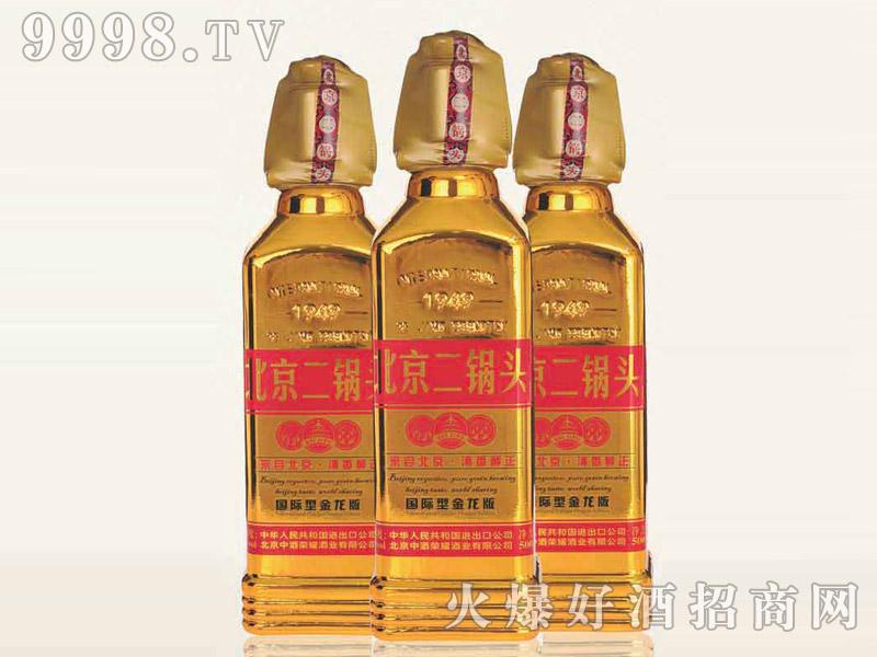 北京二锅头酒出口型小方瓶(金龙版)42°500ml清香型白酒