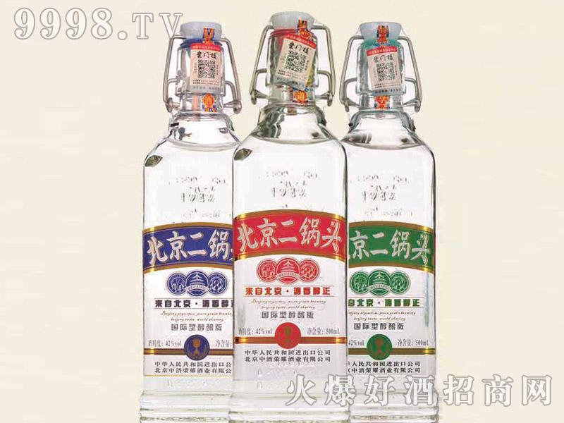 北京二锅头酒出口型小方瓶(醇酿版)42°500ml清香型白酒
